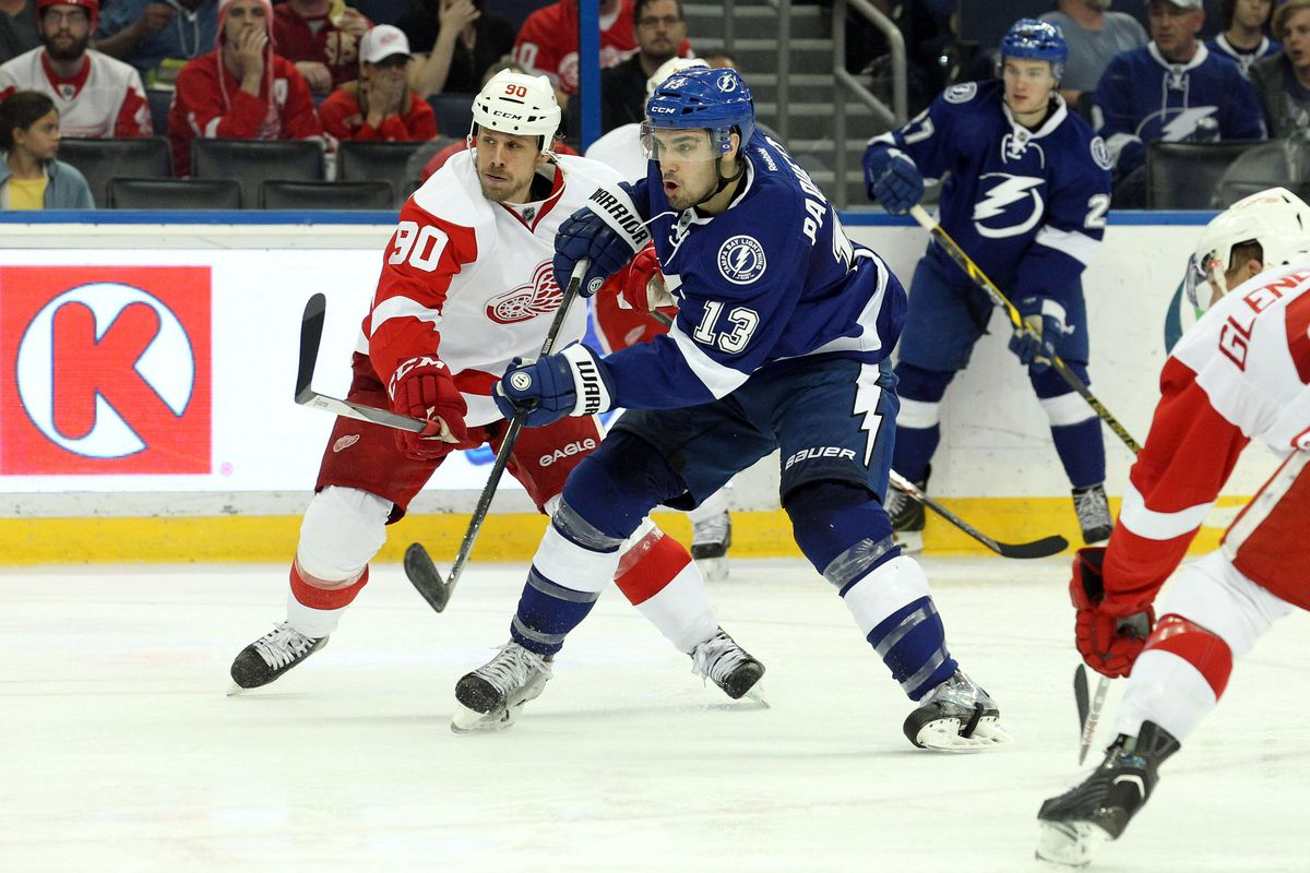 For the record, Tampa Bay's Cedric Paquette returned to practice Thursday for the Tampa Bay Lightning but is questionable for tonight against Detroit; he wore the red no-contact jersey yesterday.