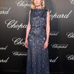 Kirsten Dunst in Schiaparelli at the Chopard Trophy Ceremony.