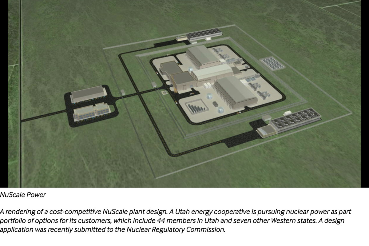 A rendering of a cost-competitive NuScale plant design.