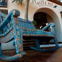 Our last stop was San Diego...Calm and peaceful city Find this typical bench in the old city of San Diego