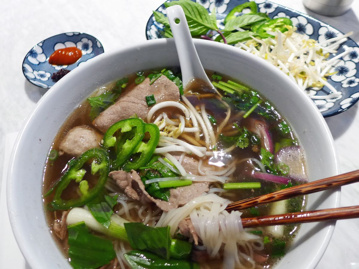 Here's the special Madame Vo pho.