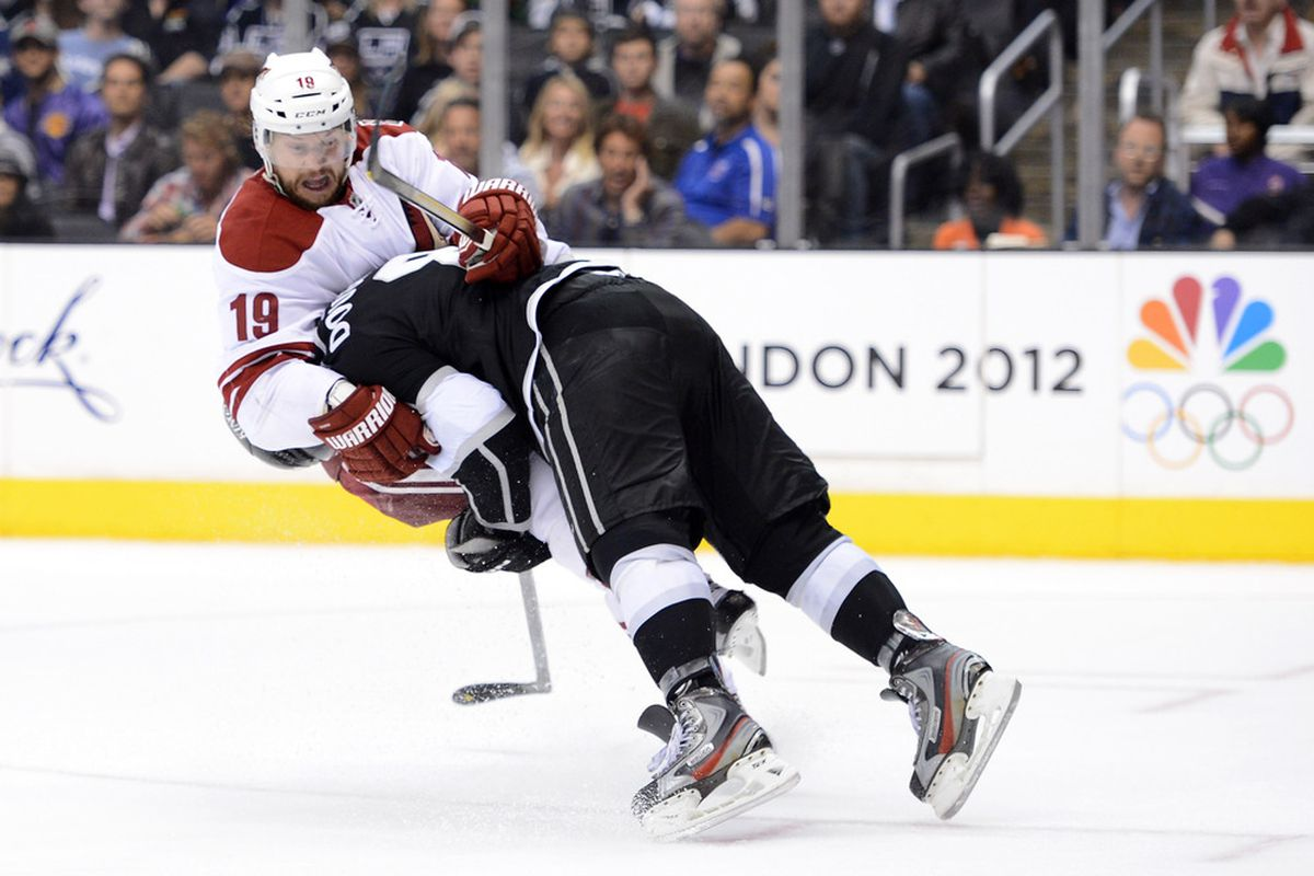 Just remember, Shane Doan got a penalty on this play....  (Photo by Harry How/Getty Images)