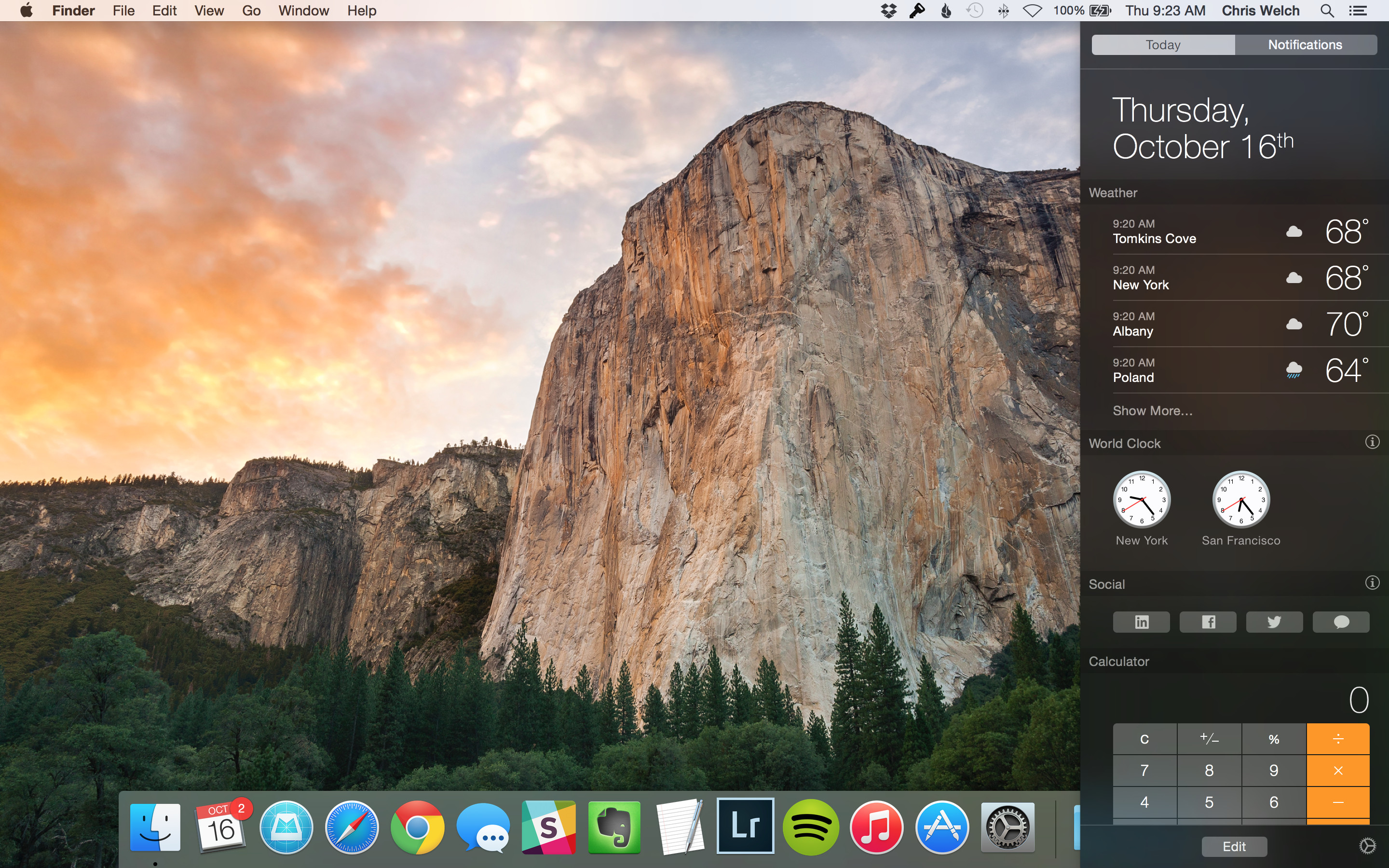 Mac Os X   Yosemite Notification Center