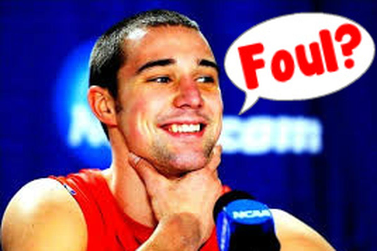 Aaron Craft answers a question about how he thinks he smells after a game.