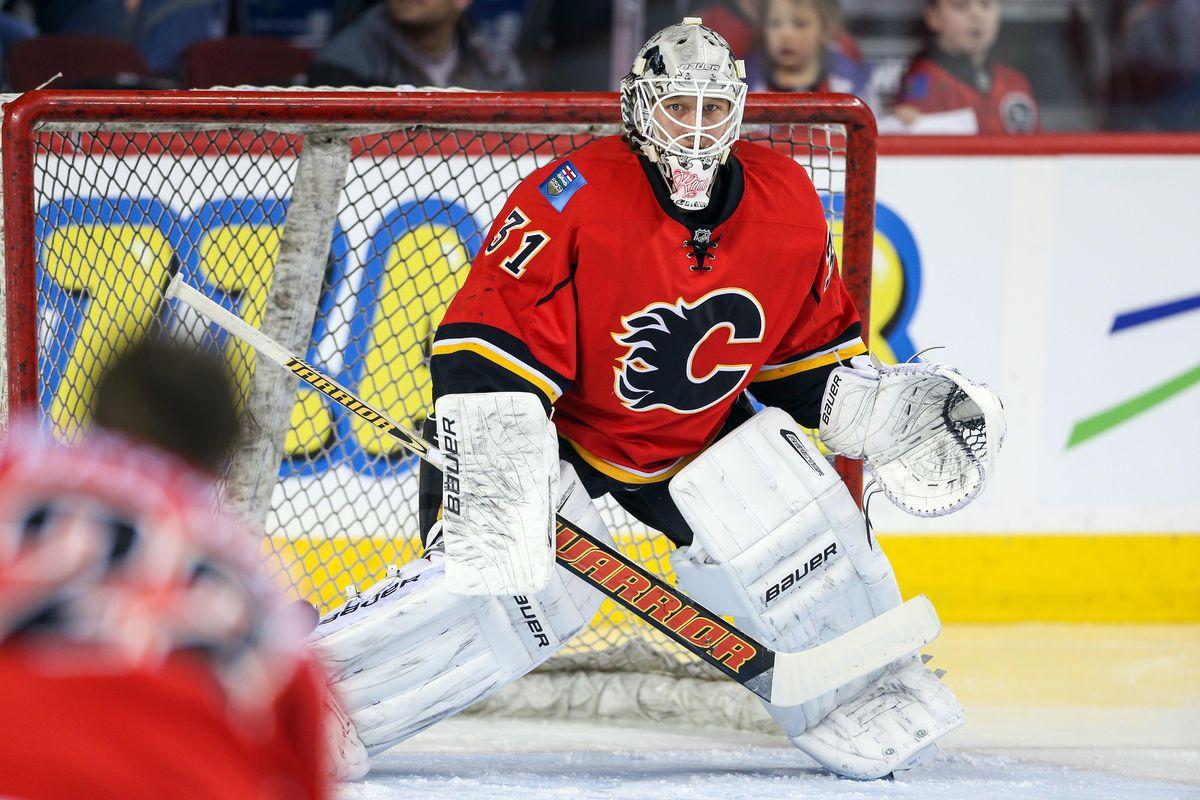 Former Lightning goalie Karri Ramo now minds the net for Calgary.