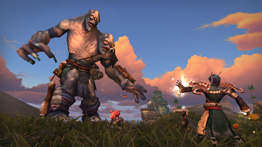 A player fighting an enemy in World of Warcraft