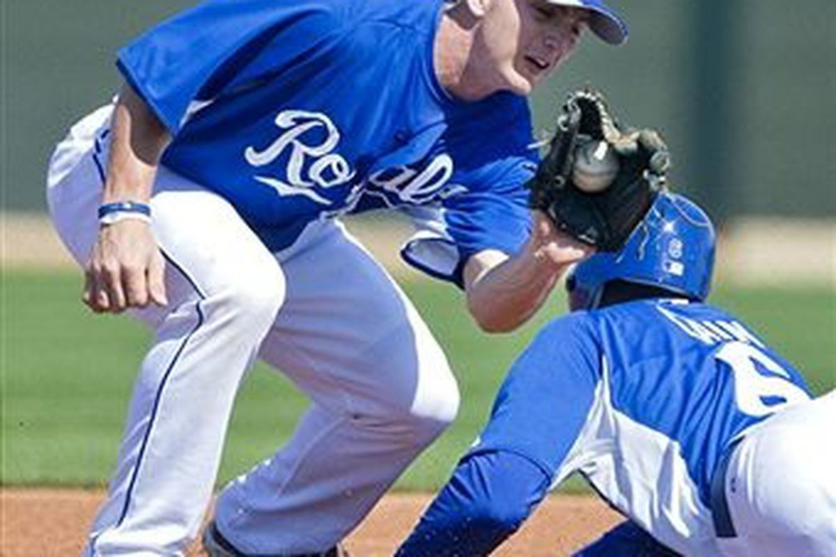 Kansas City Royals second base prospect Johnny Giavotella (Getty Images)