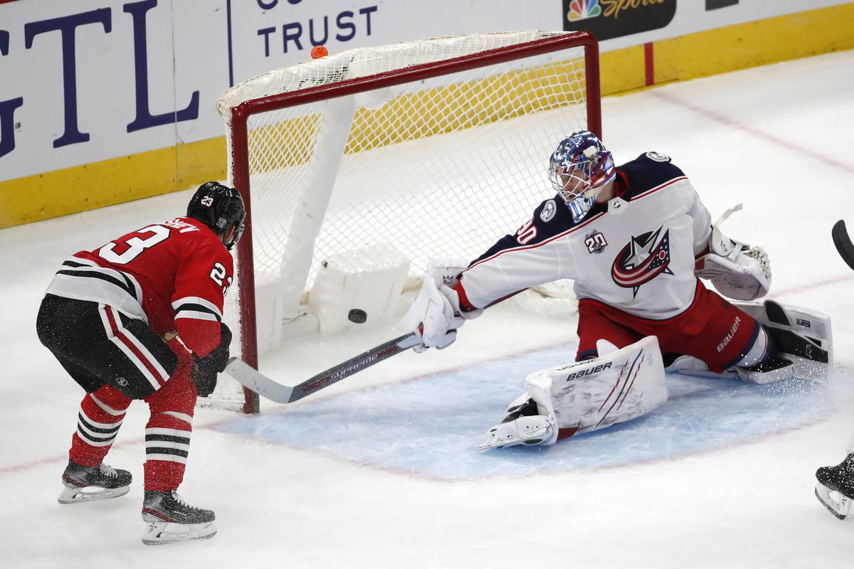 Philipp Kurashev scored in the first period and assisted on a Patrick Kane goal in the third.