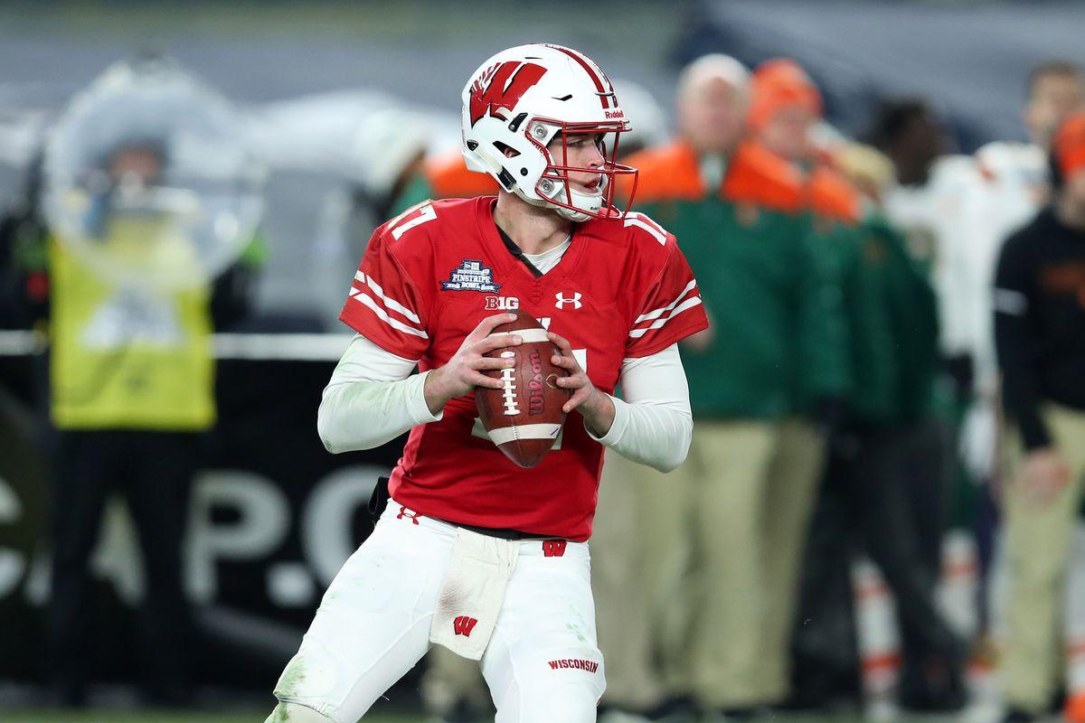 wholesale dealer 21abd b3b6e Wisconsin Badgers football fall camp 2019: quarterback ...