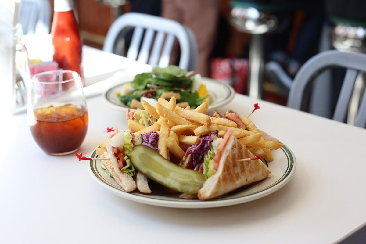 The chicken katsu club at Golden Diner