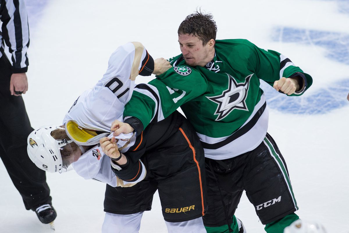 Because beating up Corey Perry is always a good thing.