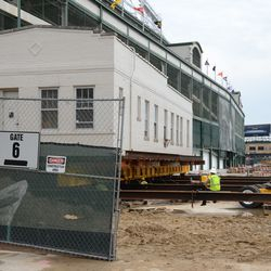 2:58 p.m. The groundskeeper's cottage, now moved back next to the ballpark -