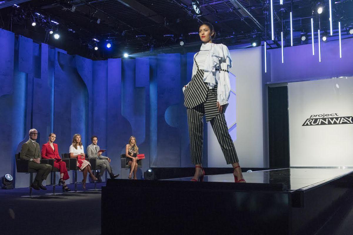 "Ayana Ife's design for episode 11's ""warrior fashion"" challenge."