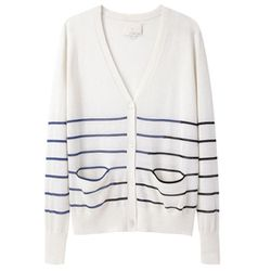 """<b>Boy. by Band of Outsiders</b>Mixed Stripe Cardigan, <a href=""""http://www.lagarconne.com/store/item.htm?itemid=17869&sid=&pid="""">$475</a> at LaGarçonne"""