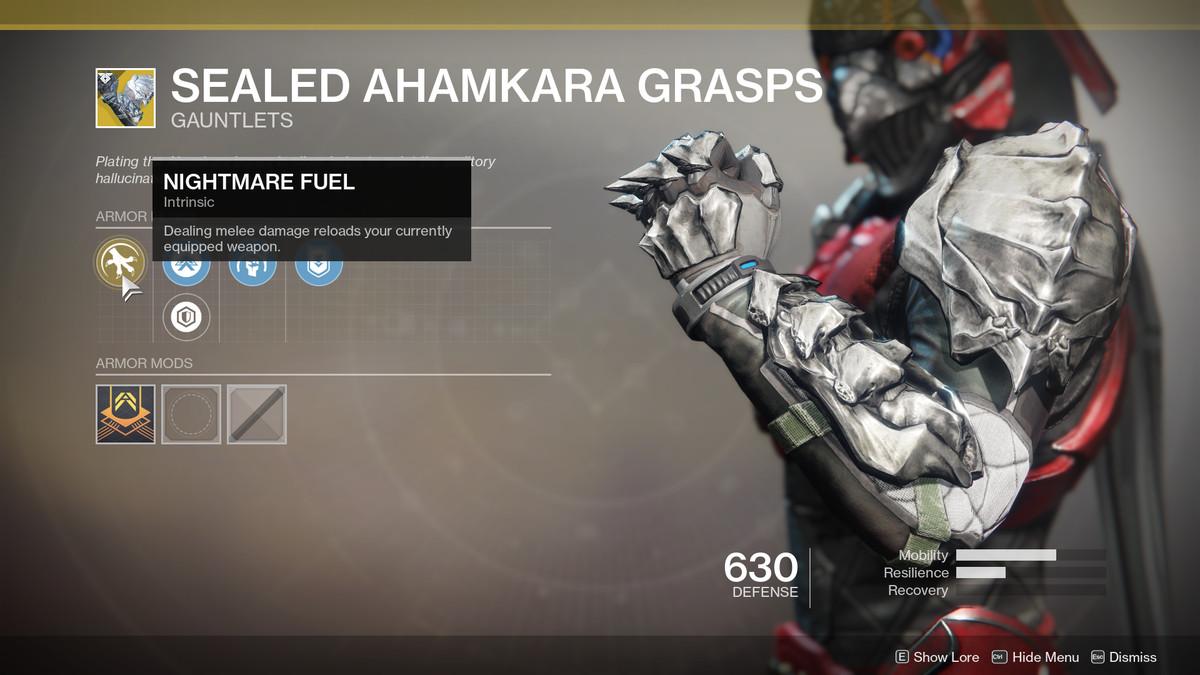 Sealed Ahamkara Grasps Exotic Destiny 2
