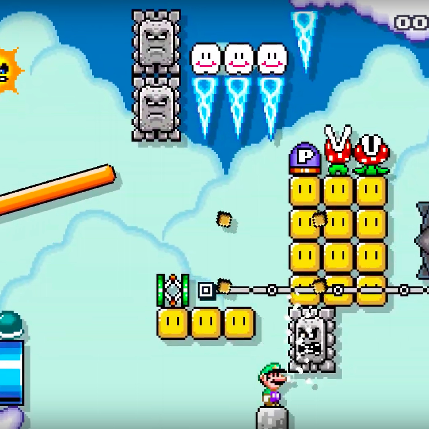 Luigi wins Super Mario Maker 2 levels by doing absolutely nothing