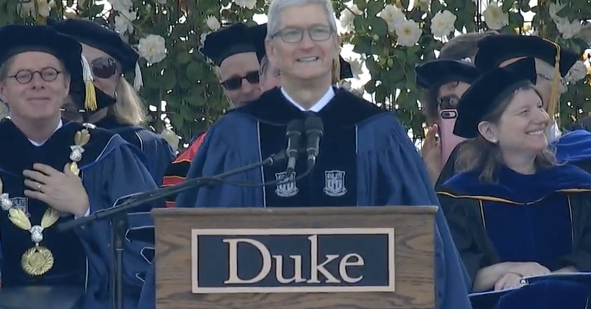 Tim Cook Brought his Pro-privacy Views to his Duke Commencement Speech Today