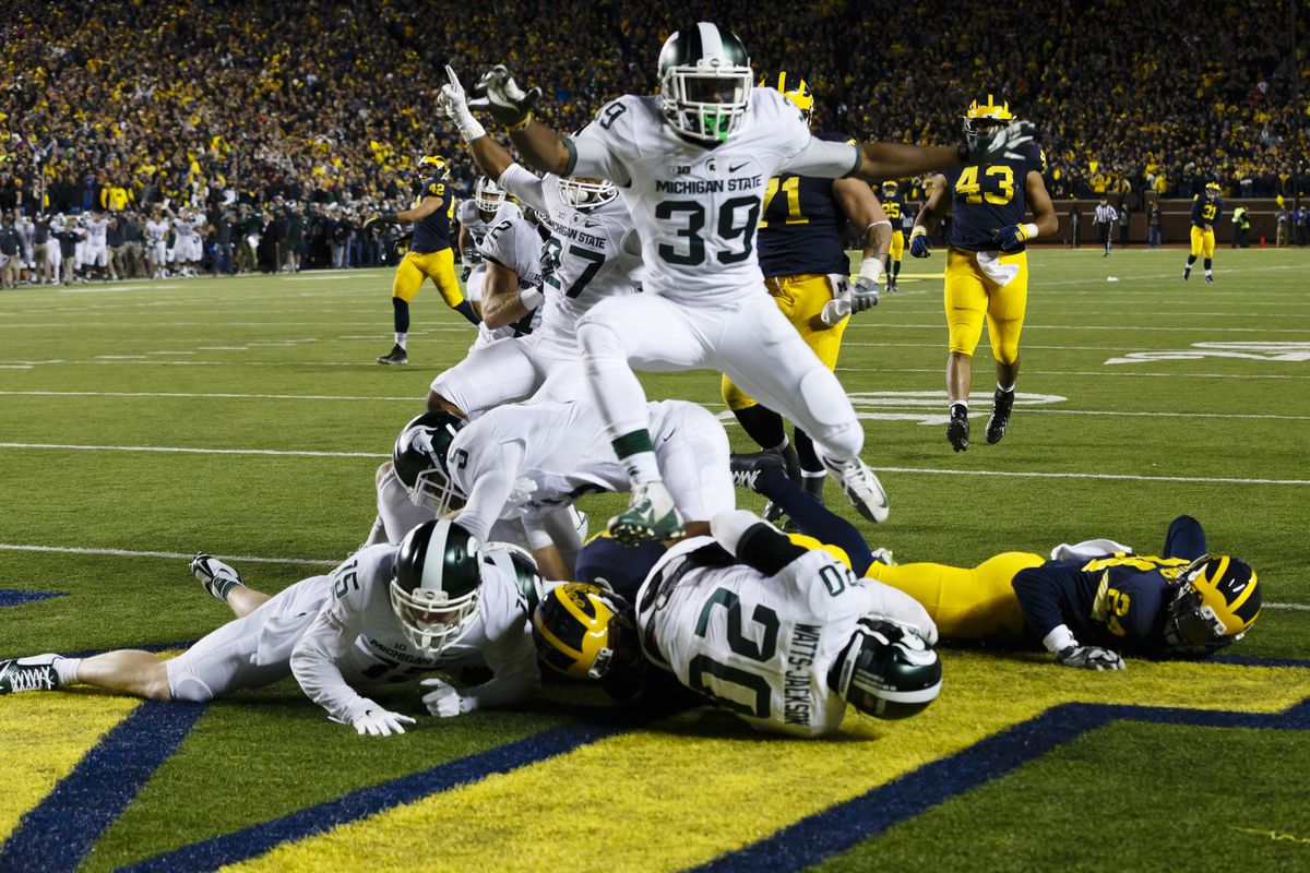Michigan State stole a miraculous victory in the Big House to remain undefeated and hand Michigan its second loss.