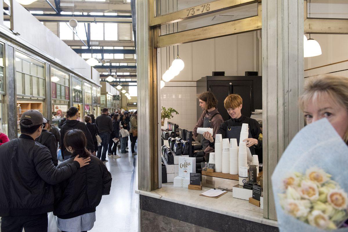 A coffee stand in Melbourne's Victoria Markets