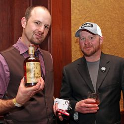 Jim Guttau and Steven Teaver, GM of Flame Restaurant