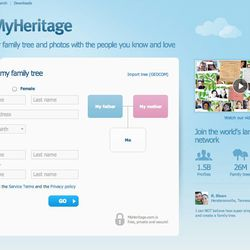 MyHeritage is one of the largest family history/genealogy websites in the world.