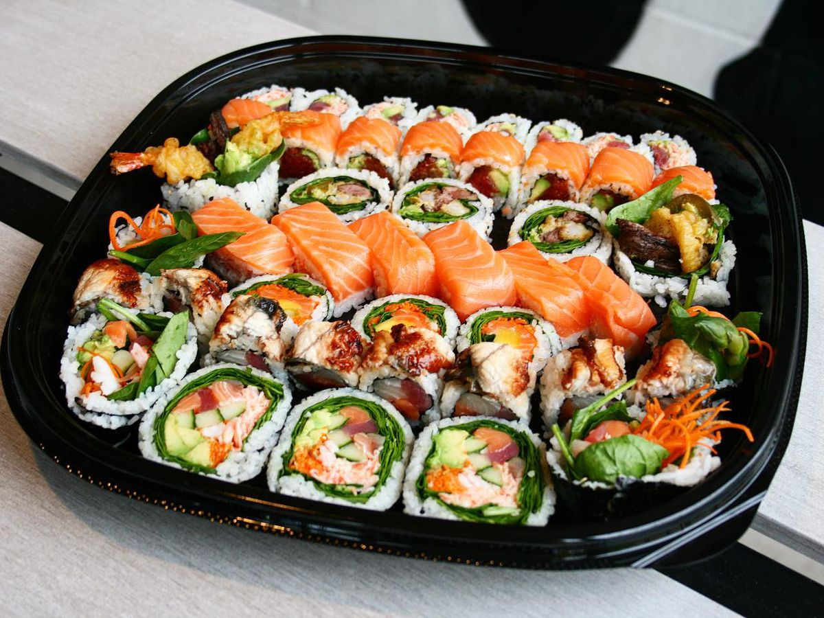 A sushi tray from Kome