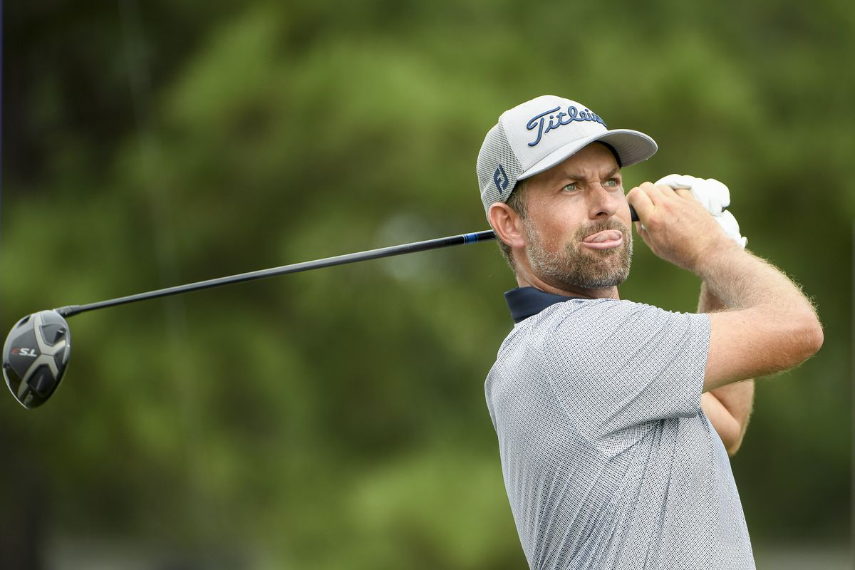 Webb Simpson hits his tee shot on the 10th tee uring the second round of the World Golf Championships-FedEx St. Jude Invitational at TPC Southwind on August 6, 2021 in Memphis, Tennessee.