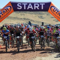 The first race of the season for the Utah High School Cycling League is held at Powder Mountain.
