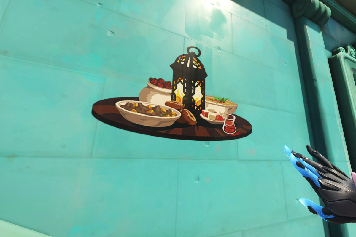 """Overwatch - an ingame shot of the """"Feast"""" spray"""