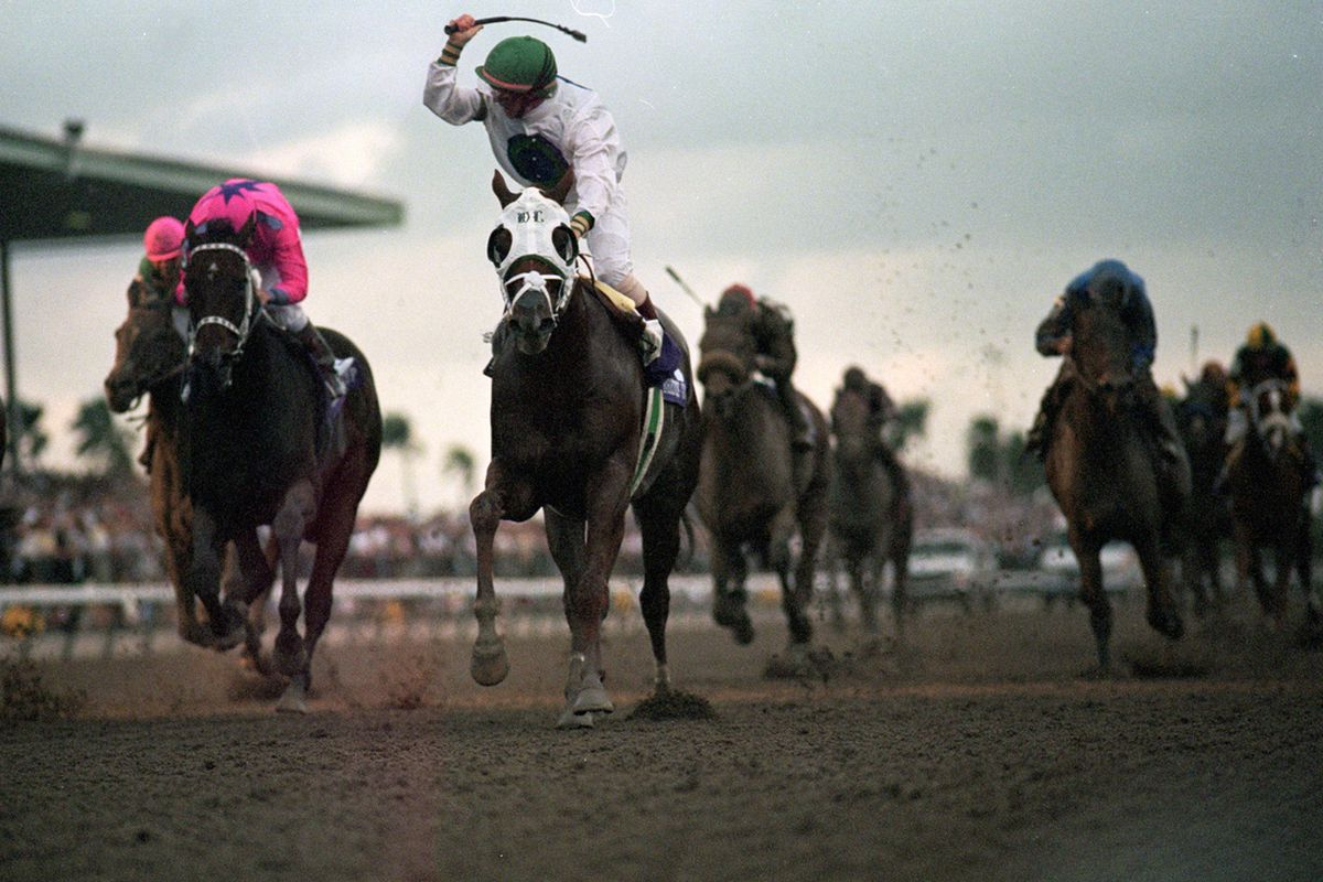 The last time the Breeders' Cup was held at Gulfstream Park, Pat Day and Cat Thief won the Classic.