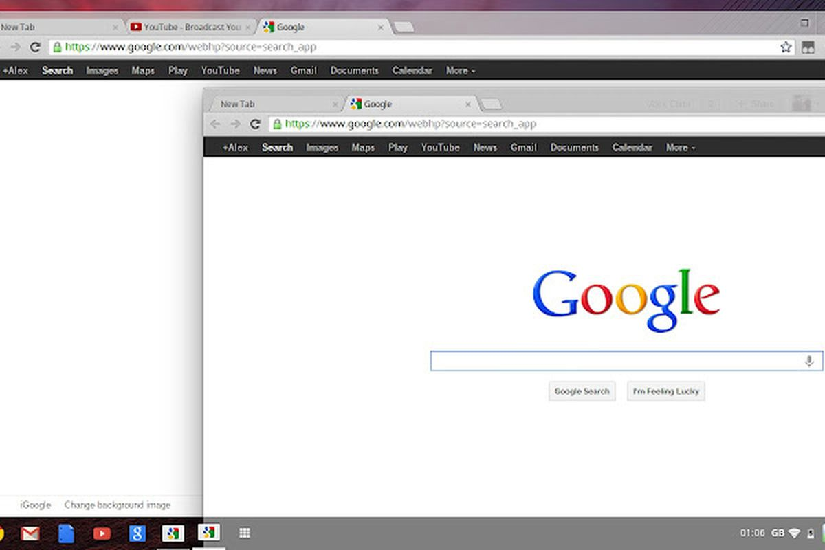 Chrome OS borrows a little from Windows and a little from OS X in