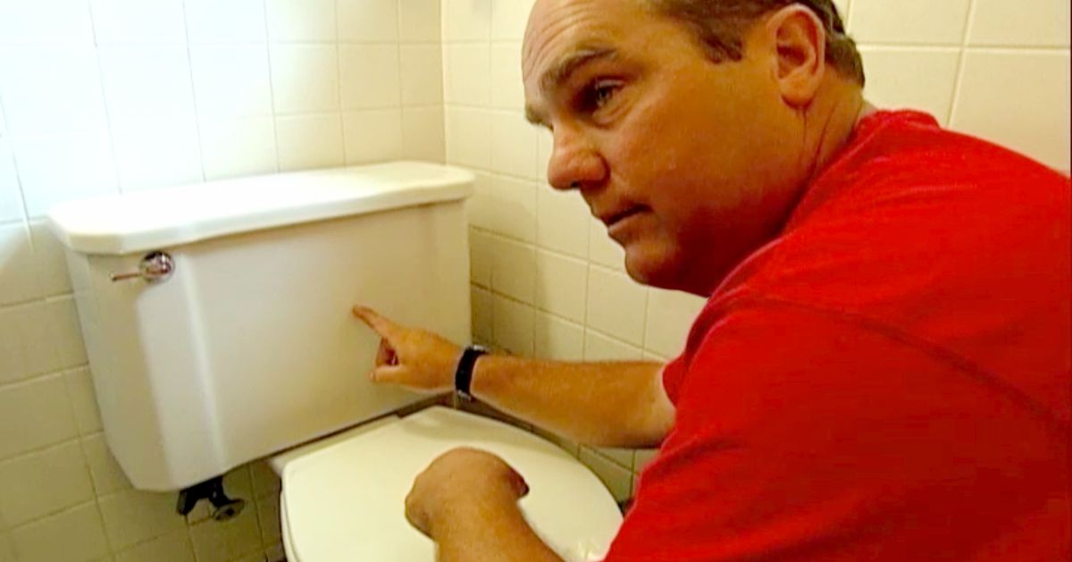 Farting, almost shits pants installing toilet - YouTube