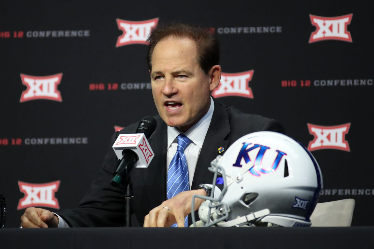 Les Miles isn't aiming to alter Kansas' offensive style to fit Big 12
