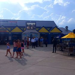 """The LandShark Bar & Grill anchors the """"adult side"""" of the park."""
