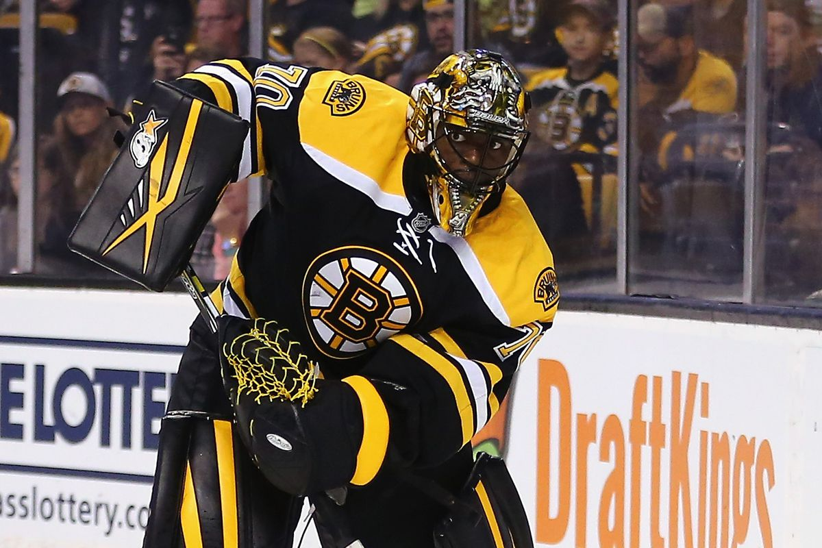 Looking every bit as sharp as his blackout pads... Malcolm Subban