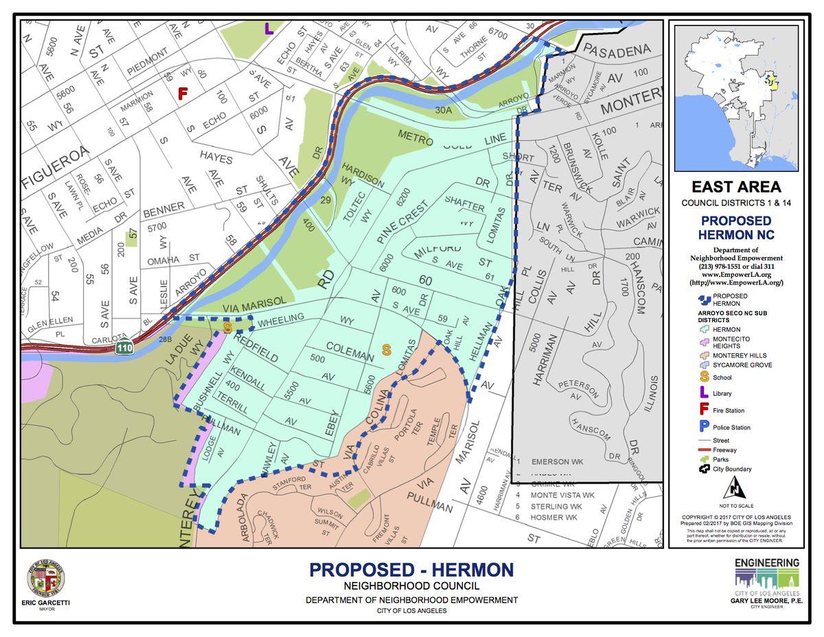 Map of Hermon