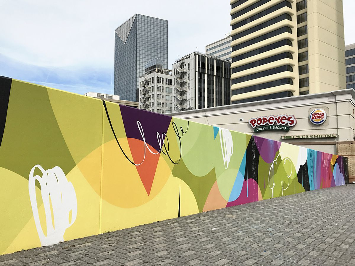 Five Points gets spruced up with new 100-foot-long mural - Curbed ...