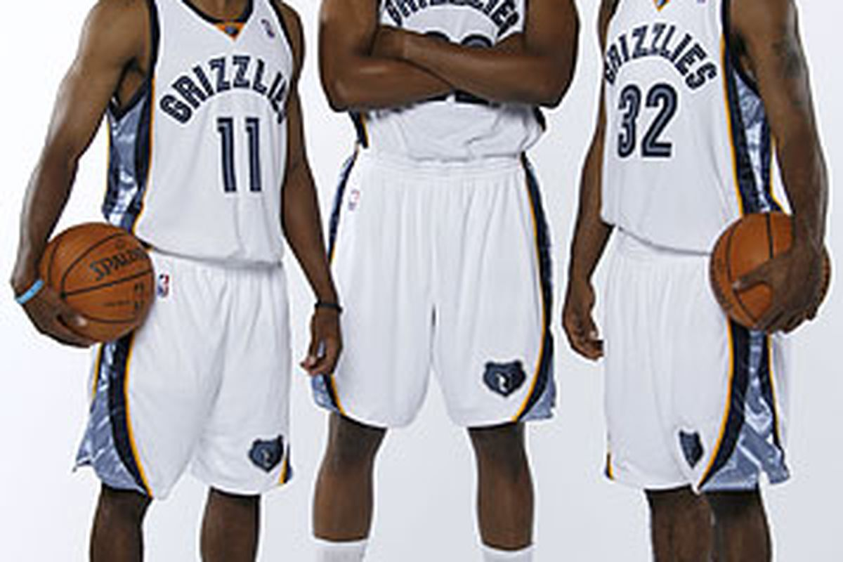 In case you didn't know, this is (from left) Mike Conley, Rudy Gay, and O.J. Mayo. They make up the young core of your new second favorite team.