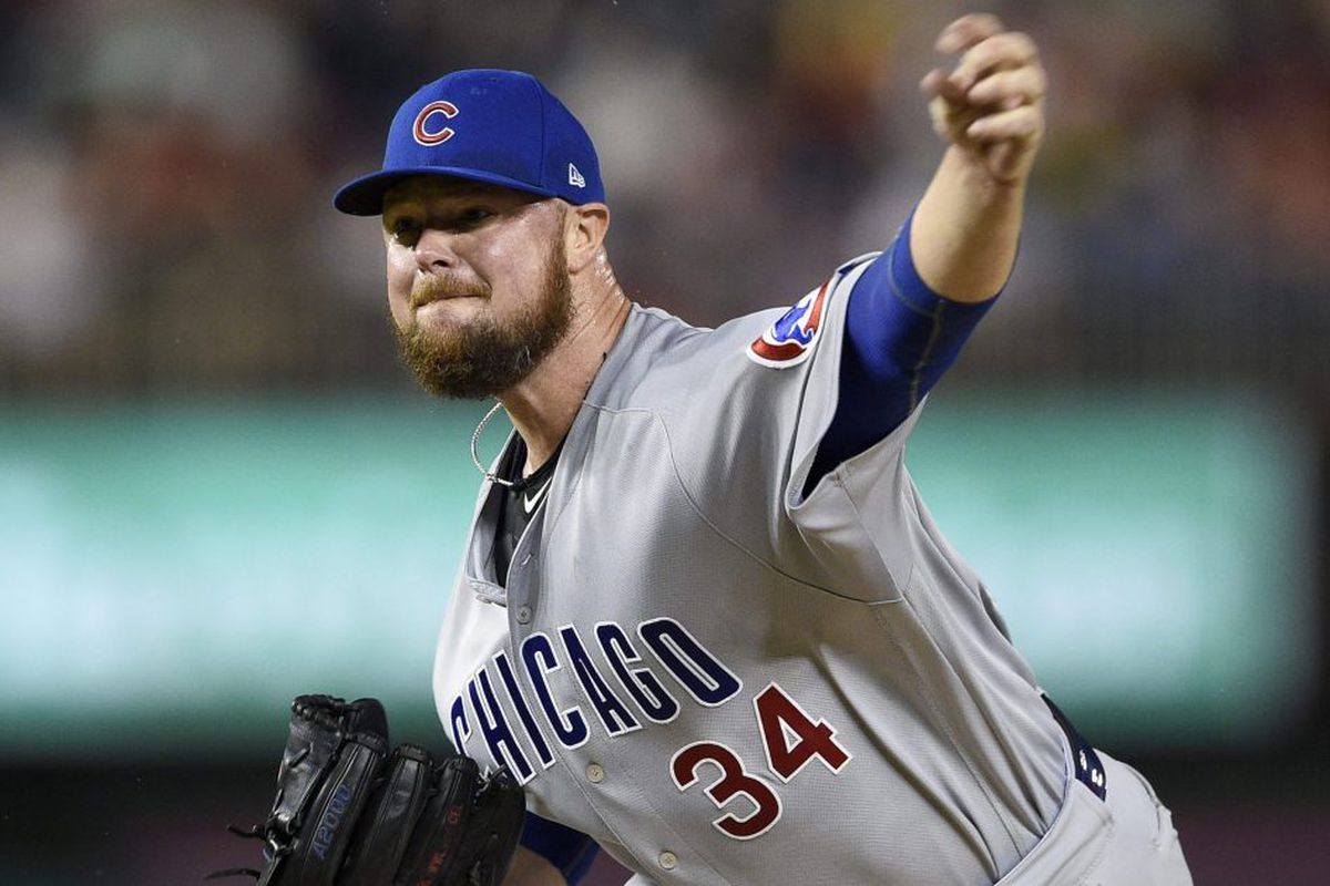 sale retailer 17137 227fc Cubs' Jon Lester one player team can't survive shoddy start ...