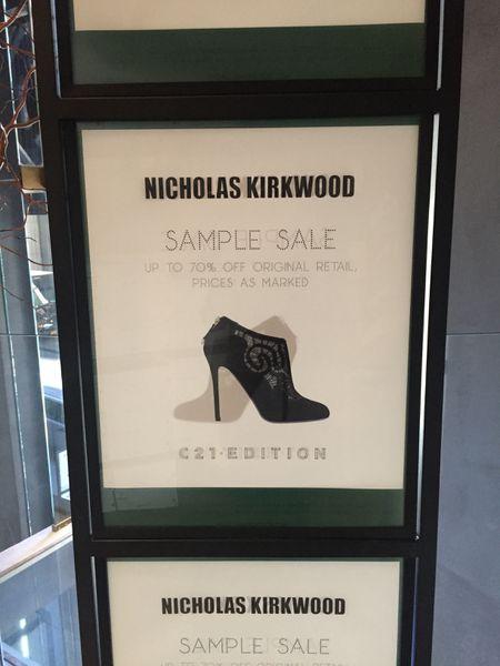 Inside the Nicholas Kirkwood Sample Sale at C21 Edition - Racked NY