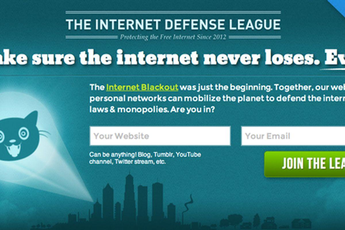 Internet Defense League banner