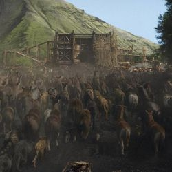 """Animals enter the Ark in """"Noah,"""" from Paramount Pictures and Regency Enterprises."""
