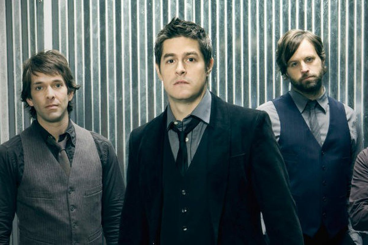 Dan Haseltine, second from the left, with Jars of Clay band members