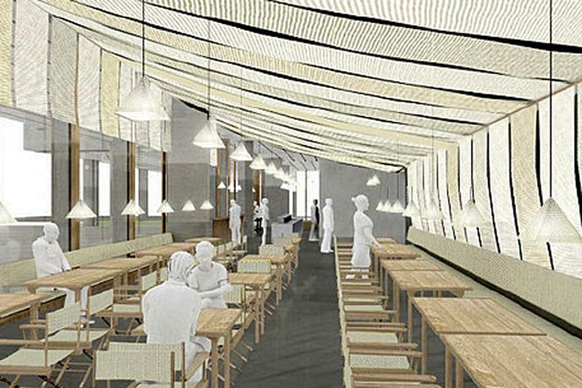 Here's a rendering of Starr's new restaurant.