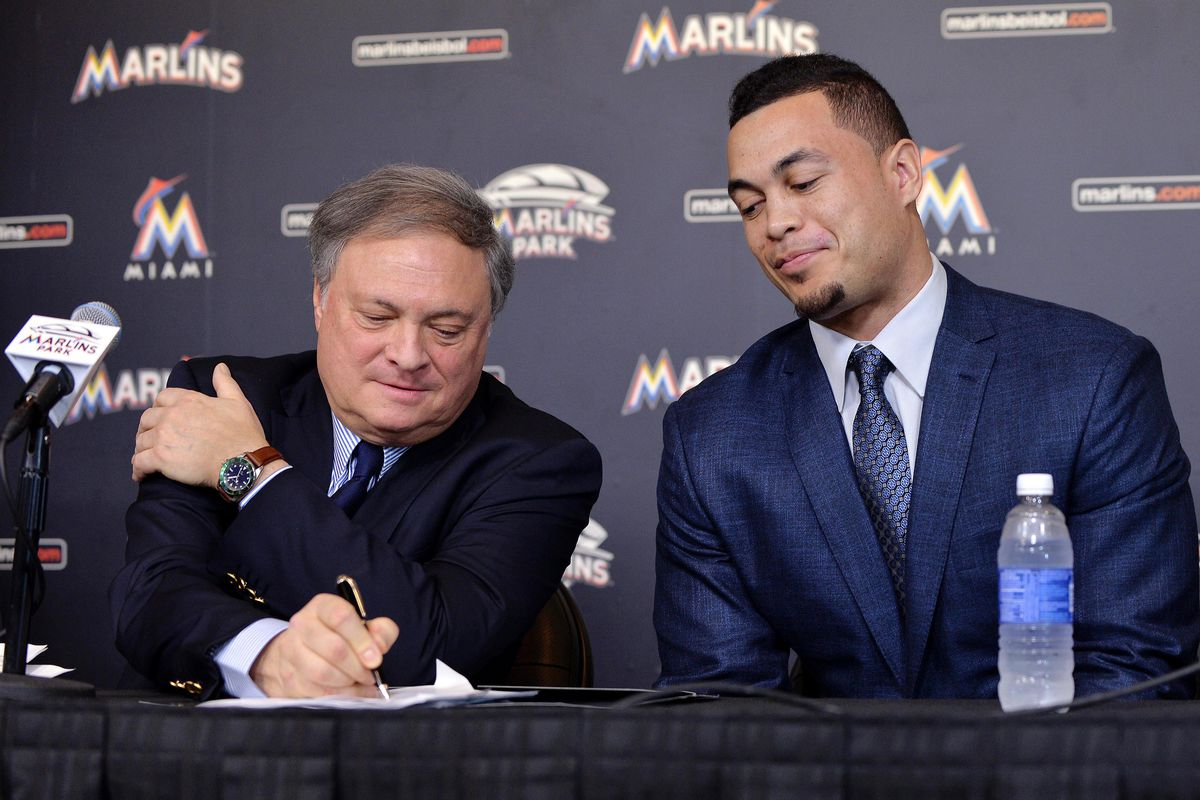 Owner Jeffrey Loria needs to sign the smaller Fish along with Giancarlo Stanton in order to sustain success