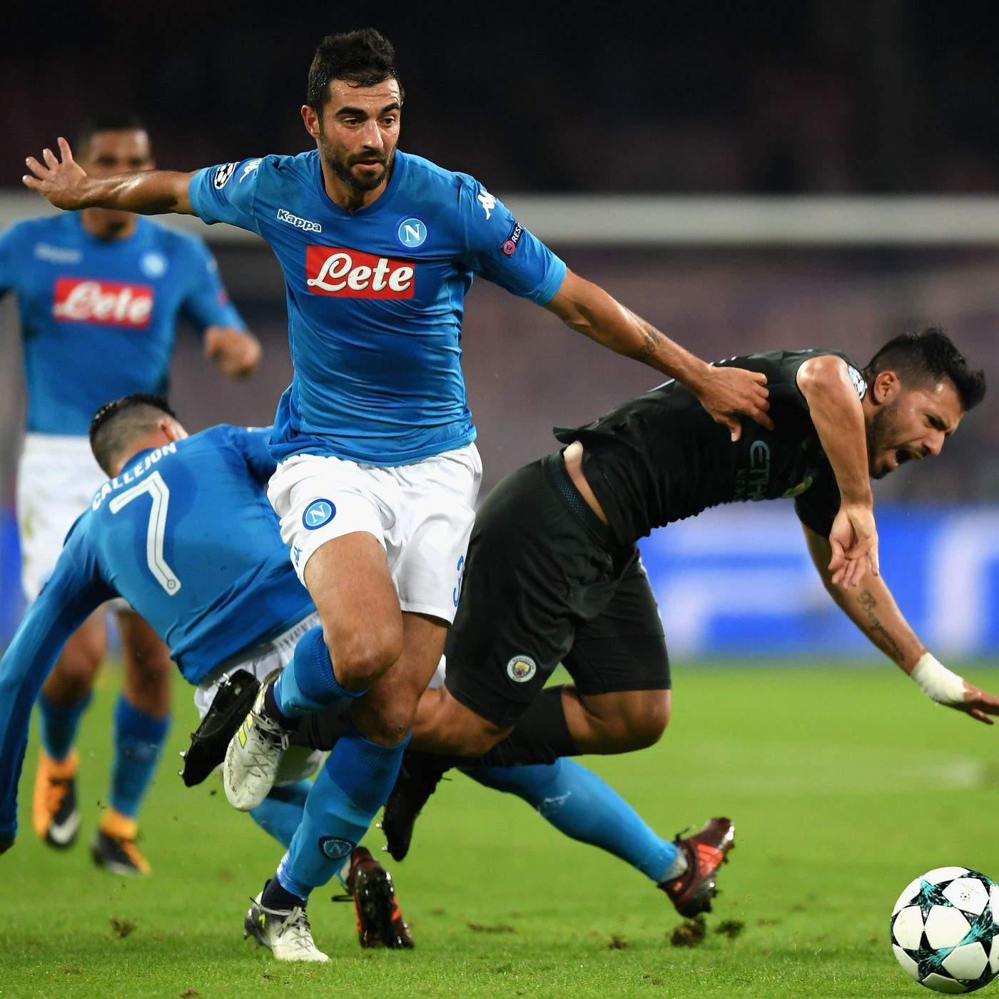9829fc238172 Manchester City overwhelm Napoli again in 4-2 road win - The Siren s Song