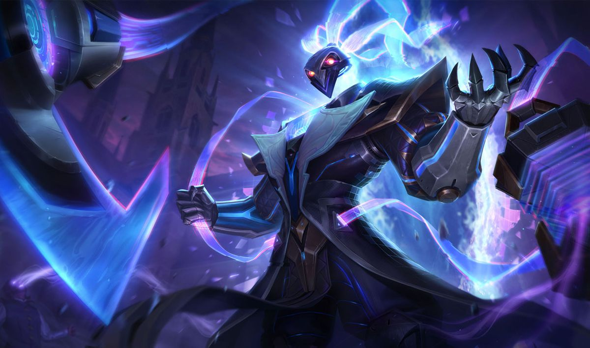 Puslefire Thresh holds the chain for his lantern