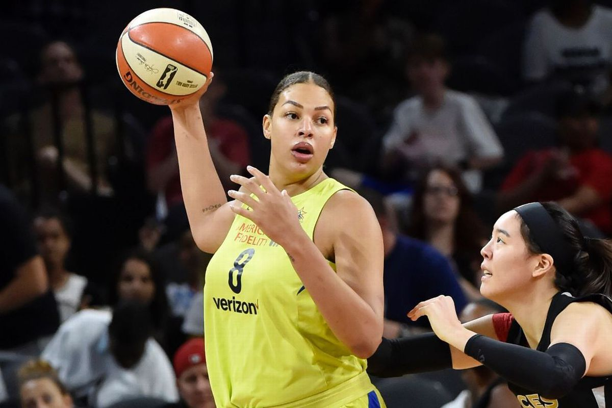 46fa6dd1ea4 The 6'8 Dallas Wings star set a league record scoring 53 points in a game,  and had her ...