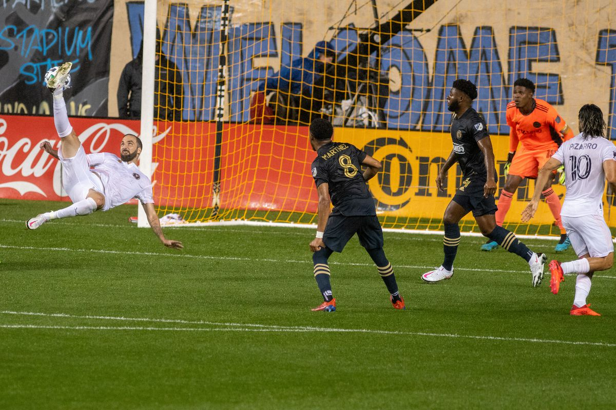 Higuain Upstaged By Fontana Philadelphia Union In Mls Debut For Inter Miami Brotherly Game