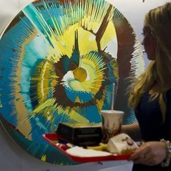 """<a href=""""http://eater.com/archives/2012/07/11/london-burger-king-installs-a-damien-hirst-painting.php"""">London Burger King Installs a Damien Hirst Painting</a>"""